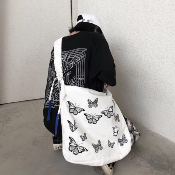 Beautiful Crumpled Bag With Butterflies 4 - My Sweet Outfit - EGirl Outfits - Soft Girl Clothes Aesthetic