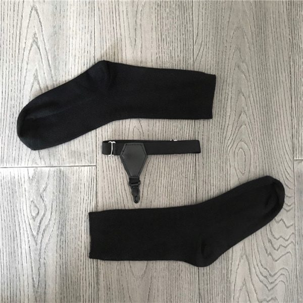 Black Cotton Suspenders Socks 1 - My Sweet Outfit - EGirl Outfits - Soft Girl Clothes Aesthetic