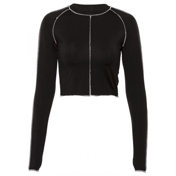 Black Trimmed Sport Top 3 - My Sweet Outfit - EGirl Outfits - Soft Girl Clothes Aesthetic