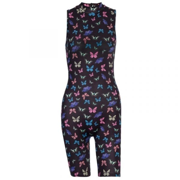 Butterfly Print Slim Sport Jumpsuit 4 - My Sweet Outfit - EGirl Outfits - Soft Girl Clothes Aesthetic