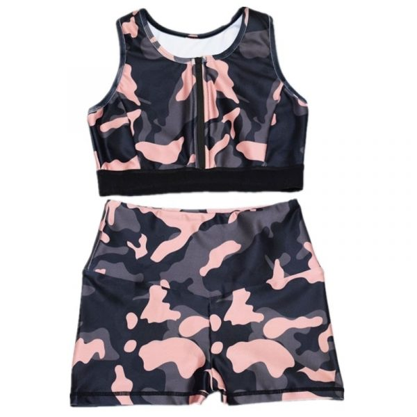 Camouflage High Elastic Yoga Sportwear 1 - My Sweet Outfit - EGirl Outfits - Soft Girl Clothes Aesthetic