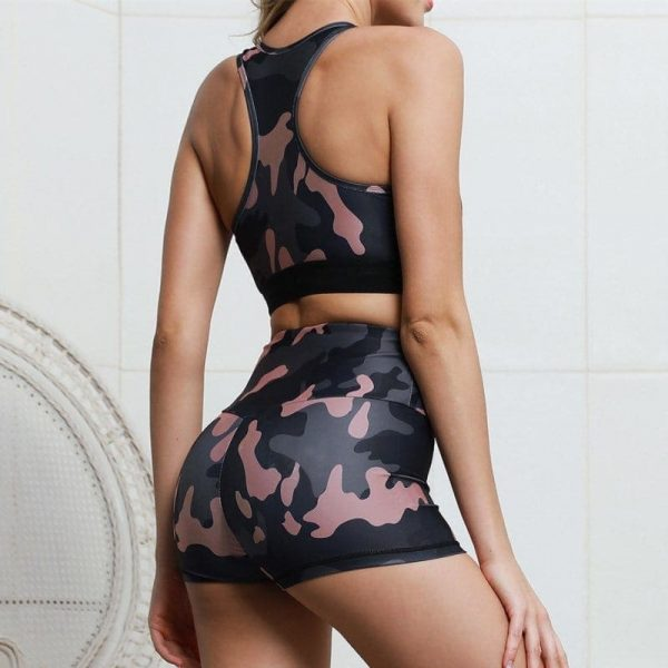 Camouflage High Elastic Yoga Sportwear 2 - My Sweet Outfit - EGirl Outfits - Soft Girl Clothes Aesthetic