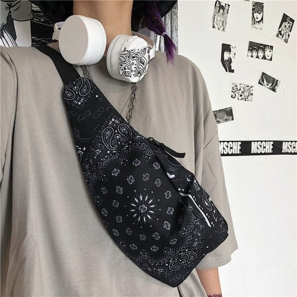 Cashew Print Zip Satchel Bag 3 - My Sweet Outfit - EGirl Outfits - Soft Girl Clothes Aesthetic
