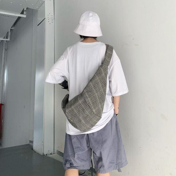 Casual Check Knotted Shoulder Backpack 1 - My Sweet Outfit - EGirl Outfits - Soft Girl Clothes Aesthetic