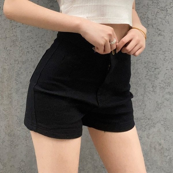 Casual Stretch Tight Fitting Shorts 1 - My Sweet Outfit - EGirl Outfits - Soft Girl Clothes Aesthetic - Grunge Fashion Tumblr Hip Emo Rap Trap