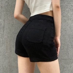 Casual Stretch Tight Fitting Shorts 2 - My Sweet Outfit - EGirl Outfits - Soft Girl Clothes Aesthetic - Grunge Fashion Tumblr Hip Emo Rap Trap