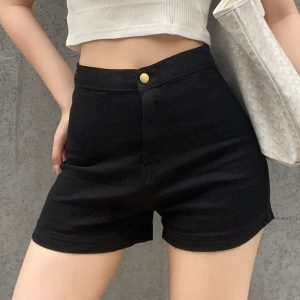 Casual Stretch Tight Fitting Shorts 4 - My Sweet Outfit - EGirl Outfits - Soft Girl Clothes Aesthetic - Grunge Fashion Tumblr Hip Emo Rap Trap
