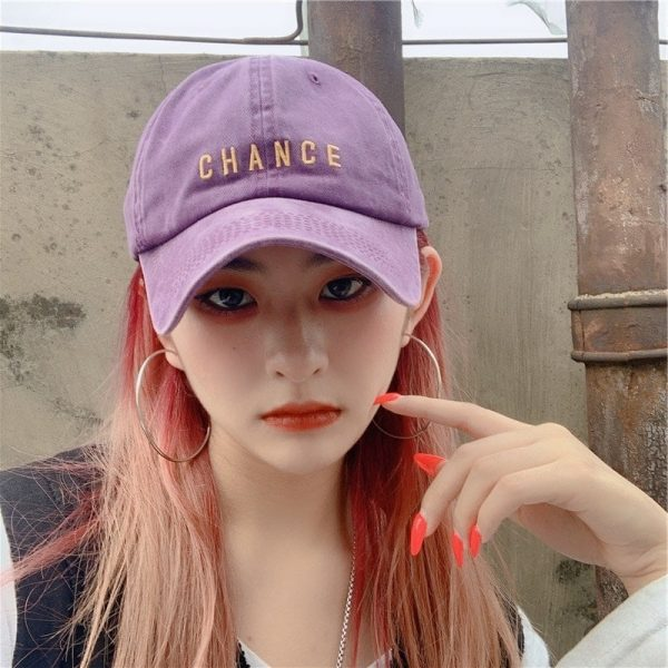 Chance Embroidered Student Baseball Cap 1 - My Sweet Outfit - EGirl Outfits - Soft Girl Clothes Aesthetic