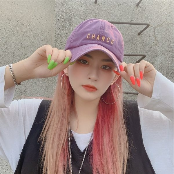 Chance Embroidered Student Baseball Cap 2 - My Sweet Outfit - EGirl Outfits - Soft Girl Clothes Aesthetic