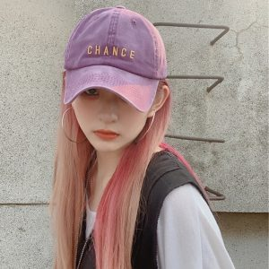 Chance Embroidered Student Baseball Cap 3 - My Sweet Outfit - EGirl Outfits - Soft Girl Clothes Aesthetic