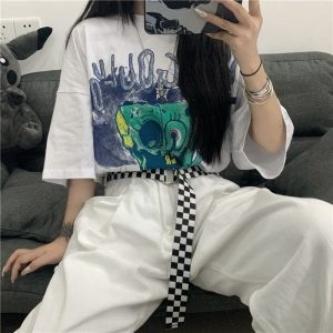 Classic Checkerboard Ska Belt 1 - My Sweet Outfit - EGirl Outfits - Soft Girl Clothes Aesthetic - Grunge Fashion Grime Hip Emo Rap Trap