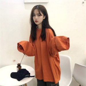 Classic Thin Long Sleeve T-shirt 3 - My Sweet Outfit - EGirl Outfits - Soft Girl Clothes Aesthetic - Grunge Fashion Tumblr Hip Emo Rap Trap