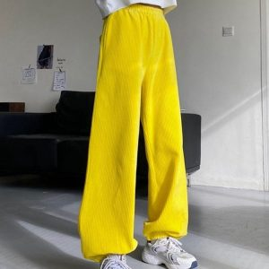 Corduroy Thickened Harem Trousers 2 - My Sweet Outfit - EGirl Outfits - Soft Girl Clothes Aesthetic - Grunge Fashion Tumblr Hip Emo Rap Trap