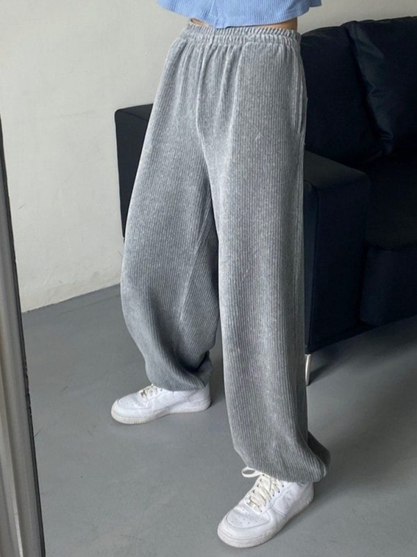 Corduroy Thickened Harem Trousers 3 - My Sweet Outfit - EGirl Outfits - Soft Girl Clothes Aesthetic - Grunge Fashion Tumblr Hip Emo Rap Trap