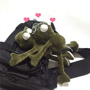 Cute Plush Frog Doll Keychain For Schoolbag 2 - My Sweet Outfit - EGirl Outfits - Soft Girl Clothes Aesthetic - Grunge Fashion Grime Hip Emo Rap Trap