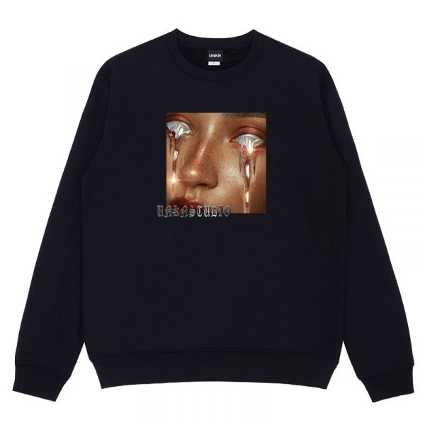 EGirl Long Sleeved Pullover Round Neck Sweater 1 - My Sweet Outfit - EGirl Outfits - Soft Girl Clothes Aesthetic - Grunge Fashion Grime Hip Emo Rap Trap