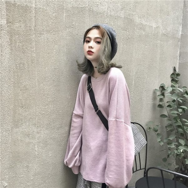Egirl Aesthetic Student Sweatshirt 1 - My Sweet Outfit - EGirl Outfits - Soft Girl Clothes Aesthetic - Grunge Fashion Grime Hip Emo Rap Trap