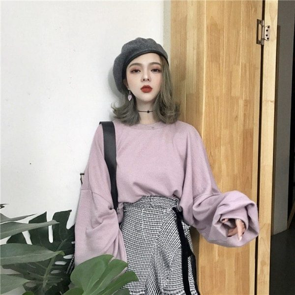 Egirl Aesthetic Student Sweatshirt 2 - My Sweet Outfit - EGirl Outfits - Soft Girl Clothes Aesthetic - Grunge Fashion Grime Hip Emo Rap Trap