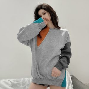 Egirl Color Block Sweater 2 - My Sweet Outfit - EGirl Outfits - Soft Girl Clothes Aesthetic - Grunge Fashion Tumblr Hip Emo Rap Trap