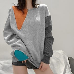 Egirl Color Block Sweater 3 - My Sweet Outfit - EGirl Outfits - Soft Girl Clothes Aesthetic - Grunge Fashion Tumblr Hip Emo Rap Trap