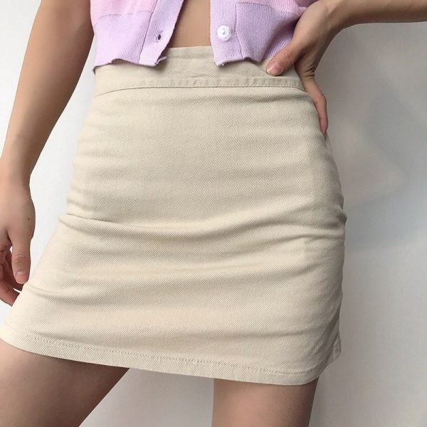 Elastic High Waisted Thin Skirt And Shorts 1 - My Sweet Outfit - EGirl Outfits - Soft Girl Clothes Aesthetic - Grunge Fashion Grime Hip Emo Rap Trap
