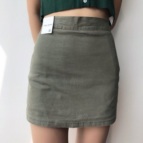 Elastic High Waisted Thin Skirt And Shorts 3 - My Sweet Outfit - EGirl Outfits - Soft Girl Clothes Aesthetic - Grunge Fashion Grime Hip Emo Rap Trap