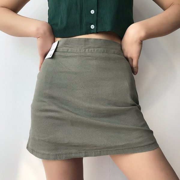 Elastic High Waisted Thin Skirt And Shorts 4 - My Sweet Outfit - EGirl Outfits - Soft Girl Clothes Aesthetic - Grunge Fashion Grime Hip Emo Rap Trap