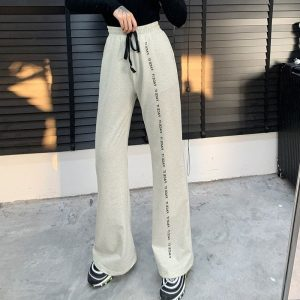 Face It Soft Girl Loose Straight Leg Pants 3 - My Sweet Outfit - EGirl Outfits - Soft Girl Clothes Aesthetic - Grunge Fashion Grime Hip Emo Rap Trap