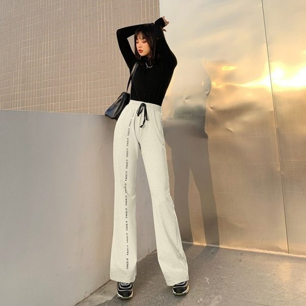 Face It Soft Girl Loose Straight Leg Pants 4 - My Sweet Outfit - EGirl Outfits - Soft Girl Clothes Aesthetic - Grunge Fashion Grime Hip Emo Rap Trap