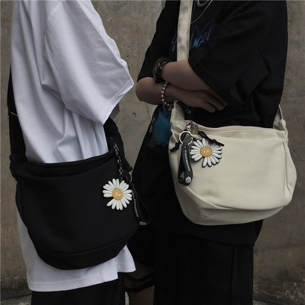 Flower Print School Shoulder Bag 2 - My Sweet Outfit - EGirl Outfits - Soft Girl Clothes Aesthetic