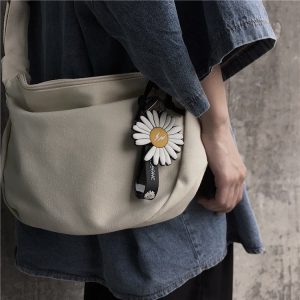 Flower Print School Shoulder Bag 3 - My Sweet Outfit - EGirl Outfits - Soft Girl Clothes Aesthetic