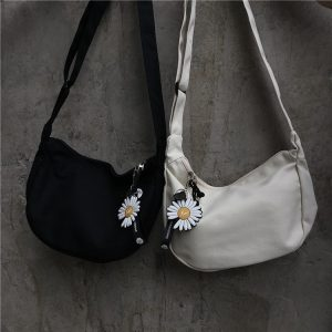 Flower Print School Shoulder Bag 4 - My Sweet Outfit - EGirl Outfits - Soft Girl Clothes Aesthetic