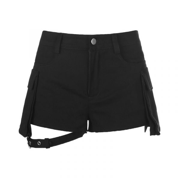 Garter Large Pocket Army Shorts 5 - My Sweet Outfit - EGirl Outfits - Soft Girl Clothes Aesthetic - Grunge Fashion Tumblr Hip Emo Rap Trap
