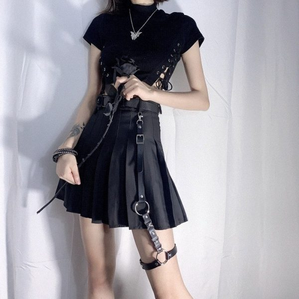 Goth Style Garter For Skirt 3 - My Sweet Outfit - EGirl Outfits - Soft Girl Clothes Aesthetic - Grunge Fashion Grime Hip Emo Rap Trap