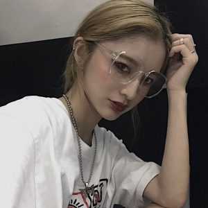 Gray Big Nerd Style Glasses 2 - My Sweet Outfit - EGirl Outfits - Soft Girl Clothes Aesthetic - Grunge Fashion Grime Hip Emo Rap Trap