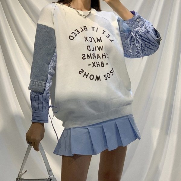 Handsome Thin Pullover-Sweater 1 - My Sweet Outfit - EGirl Outfits - Soft Girl Clothes Aesthetic