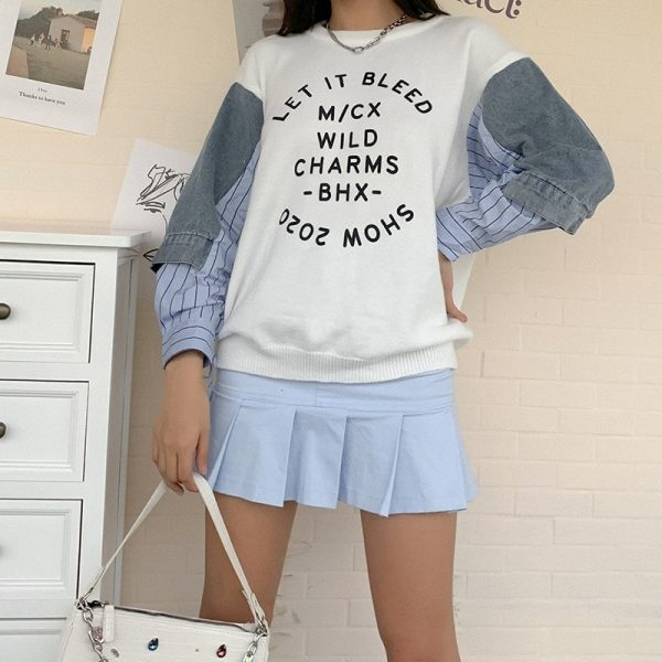 Handsome Thin Pullover-Sweater 3 - My Sweet Outfit - EGirl Outfits - Soft Girl Clothes Aesthetic