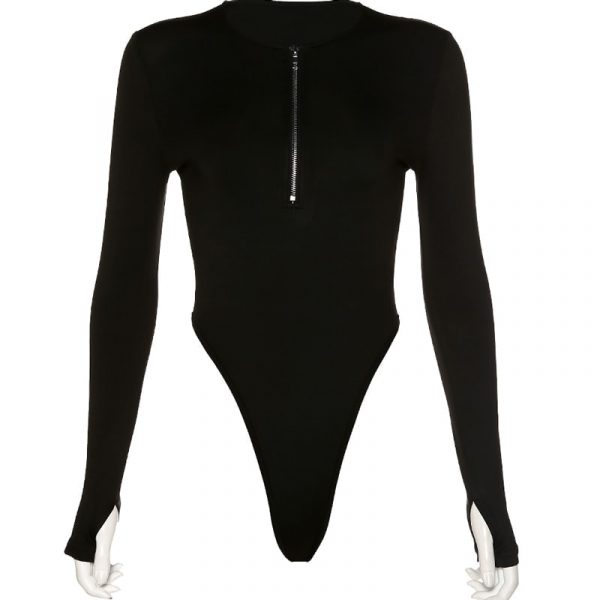 Hot Tight-Fitting Zipper Bodysuit 5 - My Sweet Outfit - EGirl Outfits - Soft Girl Clothes Aesthetic