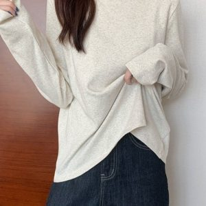Lace Stitching Half High Collar Sweatshirt 4 - My Sweet Outfit - EGirl Outfits - Soft Girl Clothes Aesthetic - Grunge Fashion Tumblr Hip Emo Rap Trap