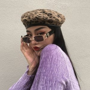 Leopard Style Autumn Warm Beret 3 - My Sweet Outfit - EGirl Outfits - Soft Girl Clothes Aesthetic - Grunge Fashion Grime Hip Emo Rap Trap