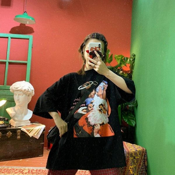 Lets Start Naughty Loose Tee 1 - My Sweet Outfit - EGirl Outfits - Soft Girl Clothes Aesthetic - Grunge Fashion Grime Hip Emo Rap Trap