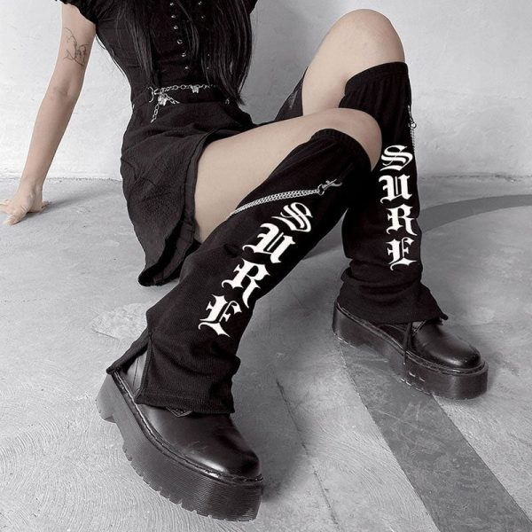 Long Cotton Printed Socks 2 - My Sweet Outfit - EGirl Outfits - Soft Girl Clothes Aesthetic - Grunge Fashion Grime Hip Emo Rap Trap
