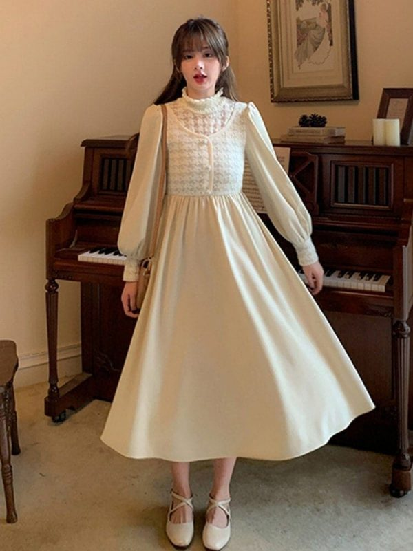 Mid Length Long Sleeve Dress 2 - My Sweet Outfit - EGirl Outfits - Soft Girl Clothes Aesthetic - Grunge Fashion Tumblr Hip Emo Rap Trap