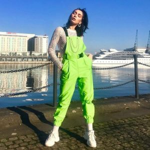 Rave Street Loose Green Rompers 3 - My Sweet Outfit - EGirl Outfits - Soft Girl Clothes Aesthetic - Grunge Fashion Grime Hip Emo Rap Trap