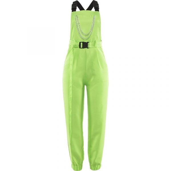 Rave Street Loose Green Rompers 4 - My Sweet Outfit - EGirl Outfits - Soft Girl Clothes Aesthetic - Grunge Fashion Grime Hip Emo Rap Trap