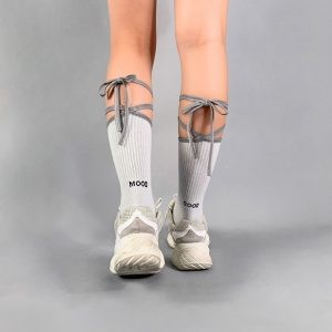 Reflective Bow Tie High Socks 3 - My Sweet Outfit - EGirl Outfits - Soft Girl Clothes Aesthetic - Grunge Fashion Grime Hip Emo Rap Trap