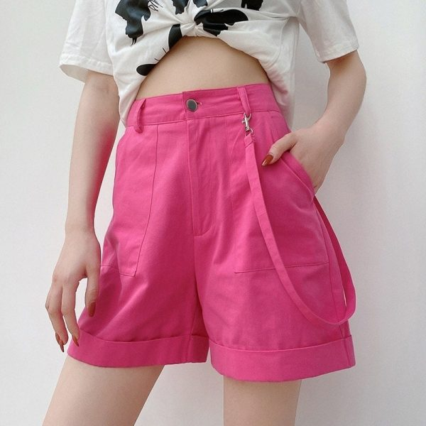 Ribbon Straight Lapels Shorts 1 - My Sweet Outfit - EGirl Outfits - Soft Girl Clothes Aesthetic - Grunge Fashion Tumblr Hip Emo Rap Trap