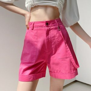 Ribbon Straight Lapels Shorts 2 - My Sweet Outfit - EGirl Outfits - Soft Girl Clothes Aesthetic - Grunge Fashion Tumblr Hip Emo Rap Trap