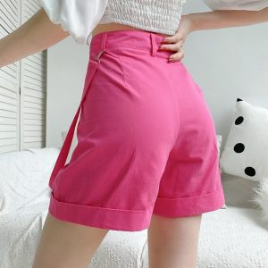Ribbon Straight Lapels Shorts 4 - My Sweet Outfit - EGirl Outfits - Soft Girl Clothes Aesthetic - Grunge Fashion Tumblr Hip Emo Rap Trap