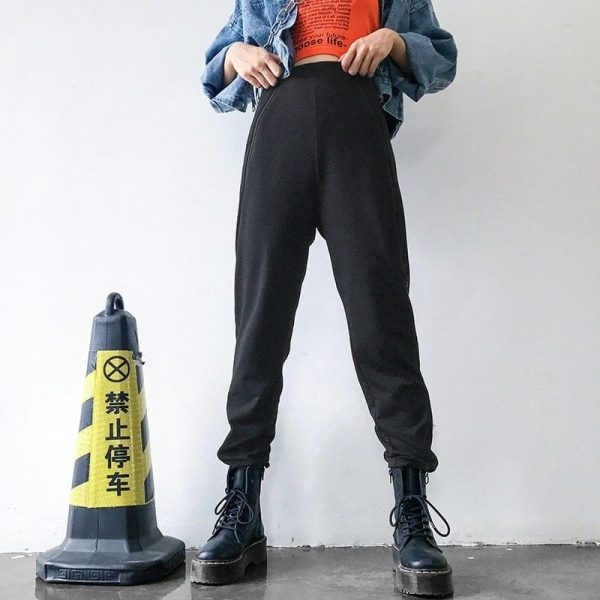 Ring Zipper Slit Design Pants 3 - My Sweet Outfit - EGirl Outfits - Soft Girl Clothes Aesthetic - Grunge Fashion Tumblr Hip Emo Rap Trap